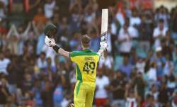 Australia's Steve Smith (left) in action against India on