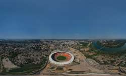 View of world's largest cricket stadium, in Ahmedabad.