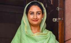 SAD leader Harsimrat Kaur Badal tests positive for COVID-19