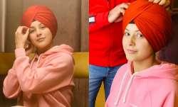 Shehnaaz Gill poses in turban