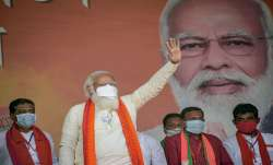 Prime Minister Narendra Modi during an election campaign