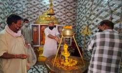 Jammu and Kashmir BJP leader performs 'havan' to ward off