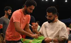 Mohammed Azharuddeen and Virat Kohli, IPL 2021, RCB