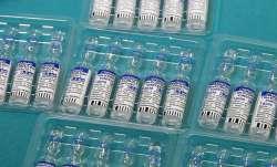 Vials containing Russia's Sputnik V vaccine for COVID-19