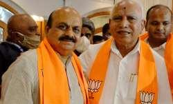 Karnataka Chief Minister Basavaraj Bommai with ex-CM BS