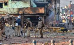 The person was accused of unlawful assembly and looting of