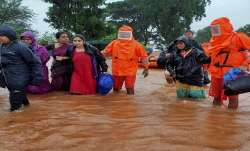 NDRF team during a rescue operation after heavy rain at