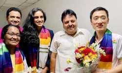 PV Sindhu with BAIgeneral secretary Ajay Singhania