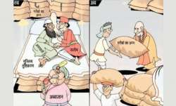 The 'abba jaan' cartoon released by UP BJP.