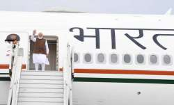 PM Modi leaves for US onboard Air India One aircraft.