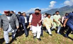 Uttarakhand Chief Minister Pushkar singh Dhami, pushkar dhami meets affected people, Chamoli, uttara