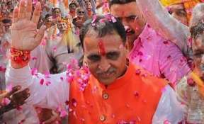 Gujarat CM Vijay Rupani will take oath on Tuesday