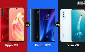 oppo f15, vivo v17, redmi k20, xiaomi, specifications, features, android, smartphones, comparison, b