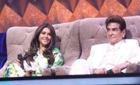 Ekta Kapoor with father Jeetendra