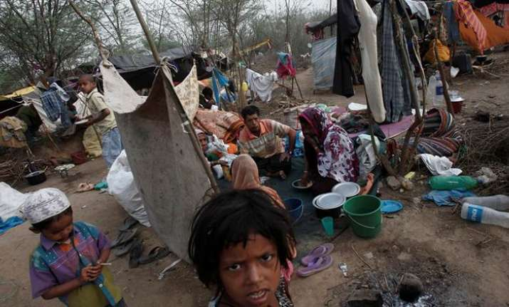 File photo of Rohingya refugees in India