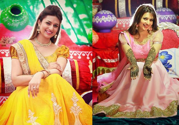 Mehendi Ceremony Look : Bride to be divyanka tripathi looks stunning at her haldi and