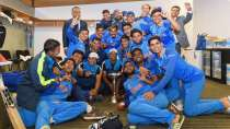 India U-19 camp after winning the World Cup in 2018