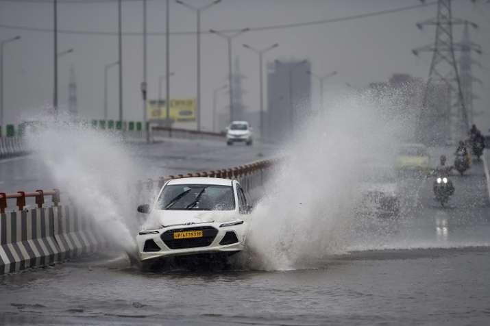 Heavy rains batter Delhi-NCR: 2 killed as road cave-ins,