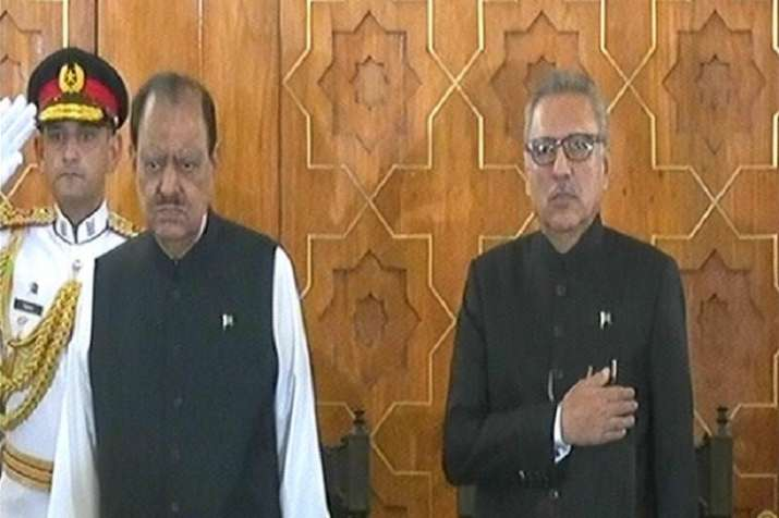 Dr Alvi was administered the oath of office by Chief