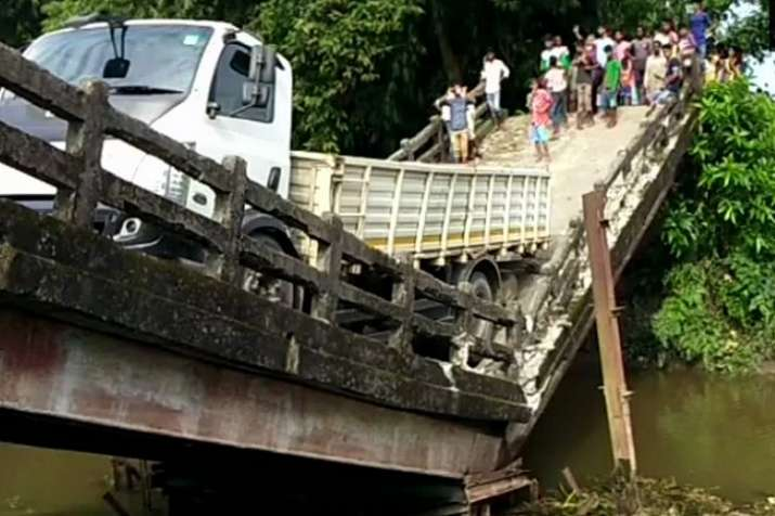 """A canal bridge in Siliguri's Phansidewa collapsed early"