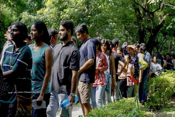 The voter turnout in the keenly contested Jawaharlal