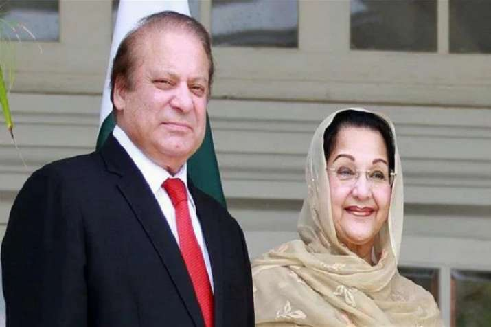 Nawaz Sharif and wife Begum Kulsoom Nawaz