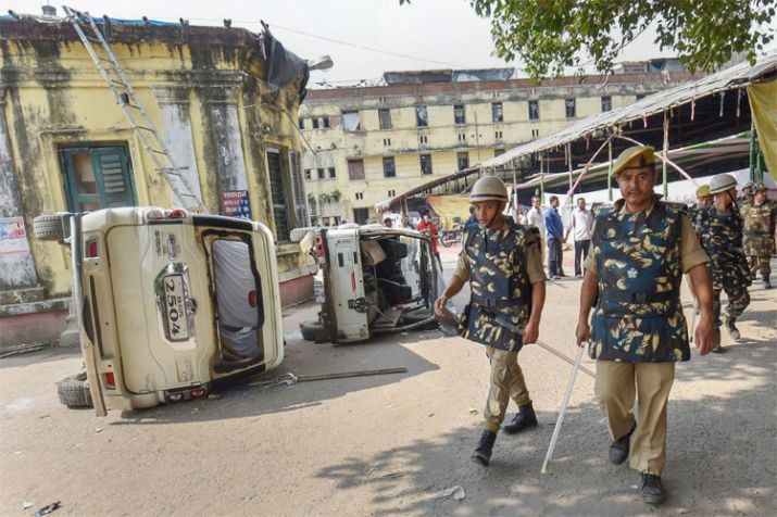 The violence was triggered by the death of Savita Pathak, a