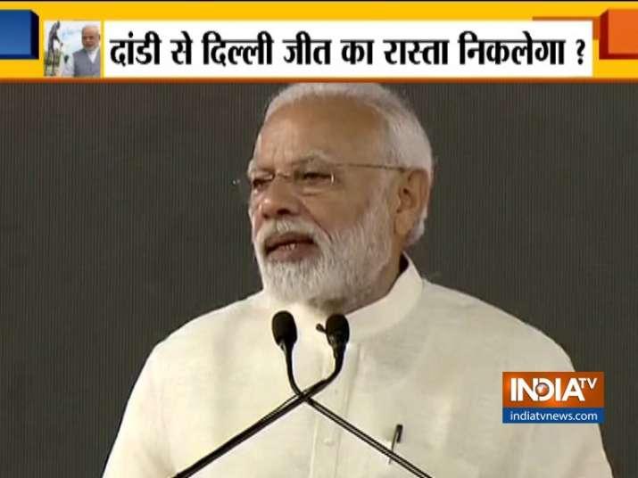 PM Modi in Dandi