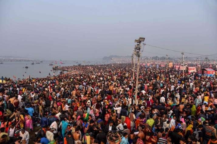 Prayagraj: Devotees gather to take a holy dip on the