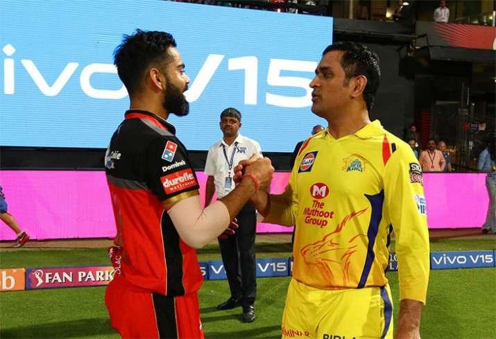 MS Dhoni Virat Kohli RCB vs CSK IPL 2019