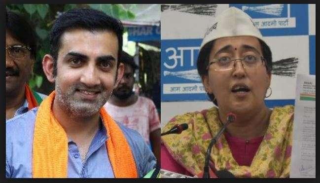 BJP leader Gautam Gambhir and AAP east delhi candidate