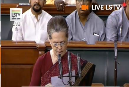 Congress leader Sonia Gandhi takes oath as a Member of
