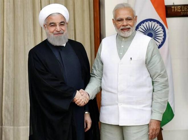 PM Modi with Iran PresidentPrez Rouhani