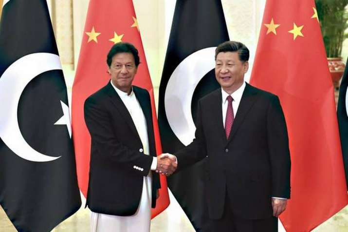 Chinese President Xi Jinping  with Pakistan PM Imran Khan