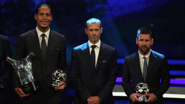 Virgil van Dijk pips Lionel Messi and Cristiano Ronaldo to win maiden UEFA Men's Player of the Year