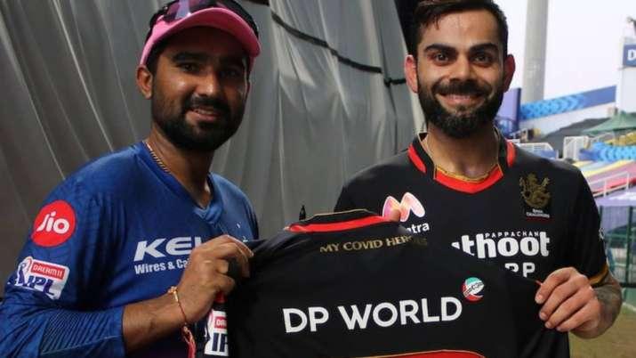 Rahul Tewatia and Virat Kohli