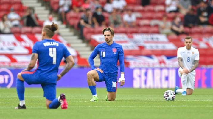 England football team again booed by fans for taking a knee